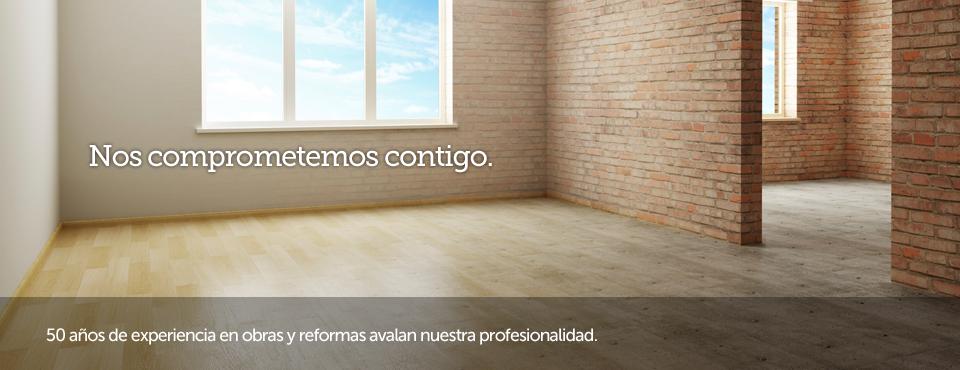 Construcciones Baos se compromete contigo: 50 años de experiencia en obras y reformas avalan nuestra profesionalidad.